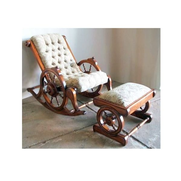 Terrific Colonial Rocking Chair With Stool Surindo Furniture Squirreltailoven Fun Painted Chair Ideas Images Squirreltailovenorg